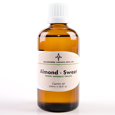 Almond Oil (Sweet) a popular carrier oil with it's fine texture. It leaves the skin soft and satiny smooth, non-greasy and easily absorbed.