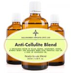 Anti-Cellulite Blend – A special blend of Grape seed oil with Black pepper, Grapefruit (White), Fennel, Juniper, Berry and Geranium essential oils.