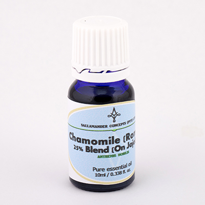 Chamomile Roman Blended Oil is good for abdominal pain, gall bladder problems, throat infections, PMS and for children experiencing teething or colic.
