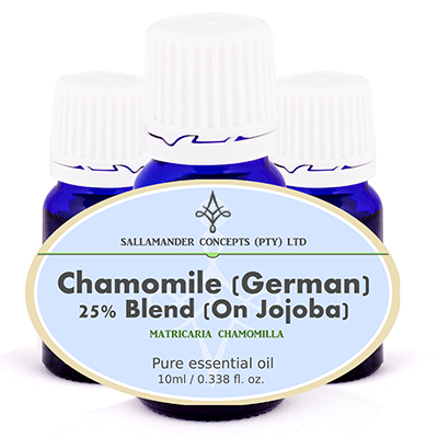 Chamomile German Essential Oil has a calming effect on the mind and body and is excellent in treating any type of inflammation.