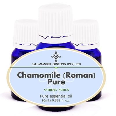 Chamomile Roman Essential Oil is good for abdominal pain, gall bladder problems, throat infections, PMS and for children experiencing teething or colic.