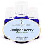Juniper Berry Essential Oil can help calm the nerves, relieves anxiety, nervous tension, mental exhaustion as well as cellulite and fluid retention.