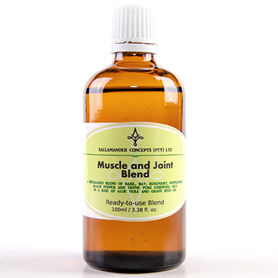 Muscle and Joint Blend – A special blend of Aloe Vera and Grape seed oil with Basil, Bay, Rosemary, Peppermint, Black Pepper and Thyme essential oils.