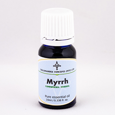 Myrrh Essential Oil is effective against excessive mucus in the lungs and helps to clear colds, catarrh, coughs, sore throats and bronchitis.