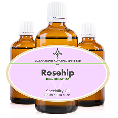 Rosehip Speciality Oil is a non volatile oil and has rejuvenating properties and is helpful with fighting sun damage to the skin.