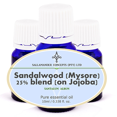 Sandalwood Blend makes a relaxing oil with a harmonizing and calming effect, which reduces tension and confusion and is ideal for use in depression, states of fear and stress.